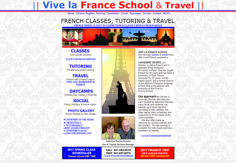VIVE LA FRANCE French langauge, cooking, daycamps and travel
